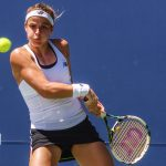 Bank of the West Classic, Nicole Gibbs d. Caroline Garcia (6-4, 7-5). Pictured: Nicole Gibbs